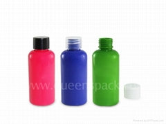 empty plastic cosmetic lotion bottle