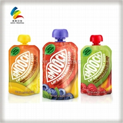 plastic packaging spout pouch for juice packaging