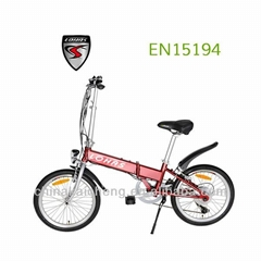 China Cheap Foldable Electric Bike (with 24V 9AH Li-ion Battery Inside Frame)