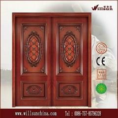 2014 new product solid wood double door