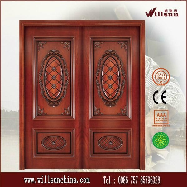 2014 new product solid wood double door 1