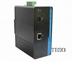 Gigabit Poe Industrial Ethernet Switch Wall Mounting With ST Port