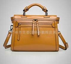 皮具廠女包正品代購2014新款女包韓版復古機車包雙拉鍊手提斜挎包
