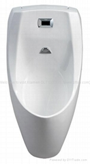 Microwave controlled automatic urinal