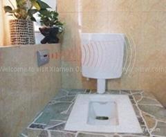 Wireless automatic toilet flusher