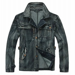 Unique design soft plus size fashion cargo denim jackets