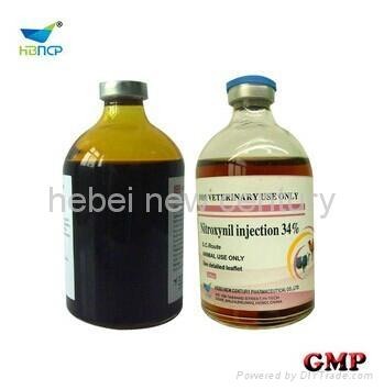 25% 34% Nitroxynil injection 50ml 100ml  poultry medicine   1