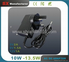 UK Plug 12V 1A  AC DC Adapter Portable Wall Charger OEM Welcome