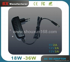 12V 2A USB Charger AC DC Adapter Wall Charger for US Plug Travel Power Adapter