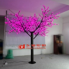 Factory outdoor led cherry blossom lighted tree