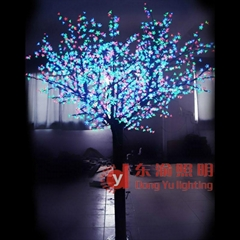 DY-YH-RGB2304 color changing led cherry blossom tree light