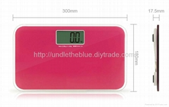 Big LCD mini portable travel bathroom scale