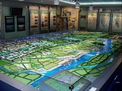 黑河沙盤模型