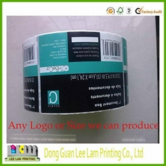 2014 bottle adhesive label widely used OEM waterproof colorful printed bottle ad
