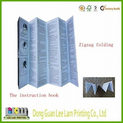 High quality Zigzag folding board book printing service