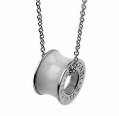 Bvlgari Anish Kapoor BZERO1 Pendant in 18kt Pink Gold with  Ceramic