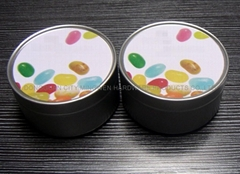 Jelly beans tin can
