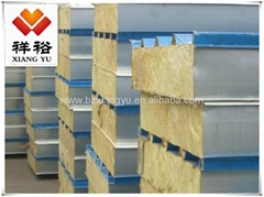 Color steel rock wool sandwich panel used for roof and wall
