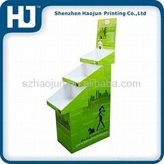Cosmetics Carton paper floors display racks stand