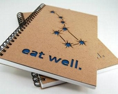 kraft paper cover notebook & spiral wire notebook