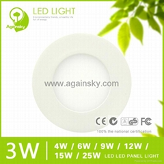 3W LED Panel Lamp with Rounded Shape