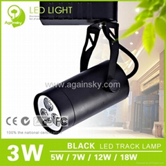 3W Black LED Track Lamp from AgainSky