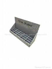 customized UV coating corrugated cardboard counter top display