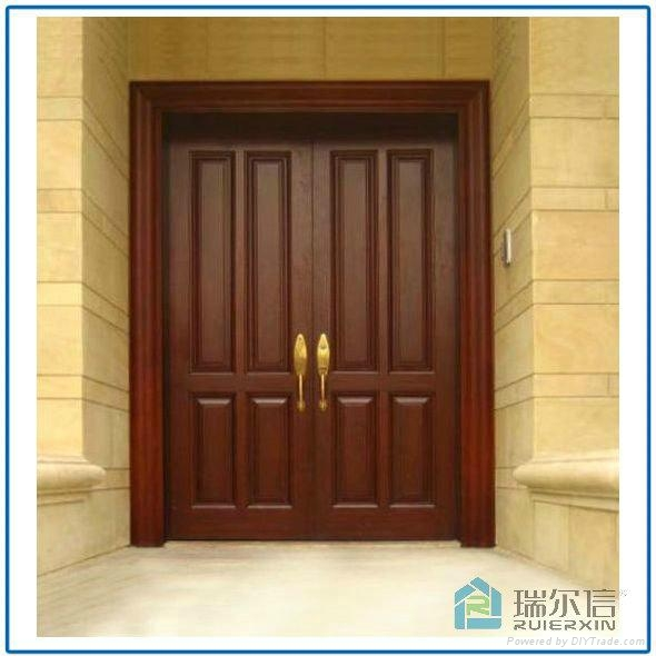 Main door design ruierxin china manufacturer wooden for Main two door designs