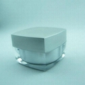 Plastic acrylic jar 50ml 100ml 200ml for cosmetic personal care 1