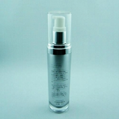 Plastic acrylic bottle flask container 100ml 180ml 200ml 250ml 500ml for cosmeti