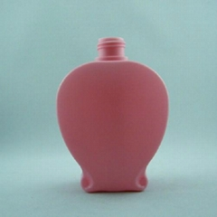 Plastic HDPE container bottle flask 500ml 750ml 1200ml for cosmetic shampoo body