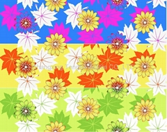 80-120gsm polyester disperse printed fabric
