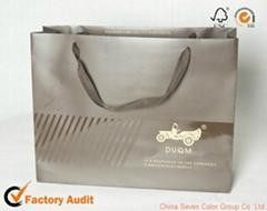 luxury paperboard gift bag