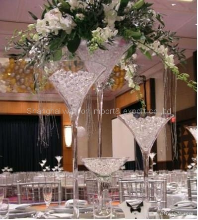 Martini vase wedding decoration glass huge table vases for Decoration vase martini