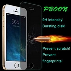 Tempered glass film screen protector for iphone 5s,5c,5