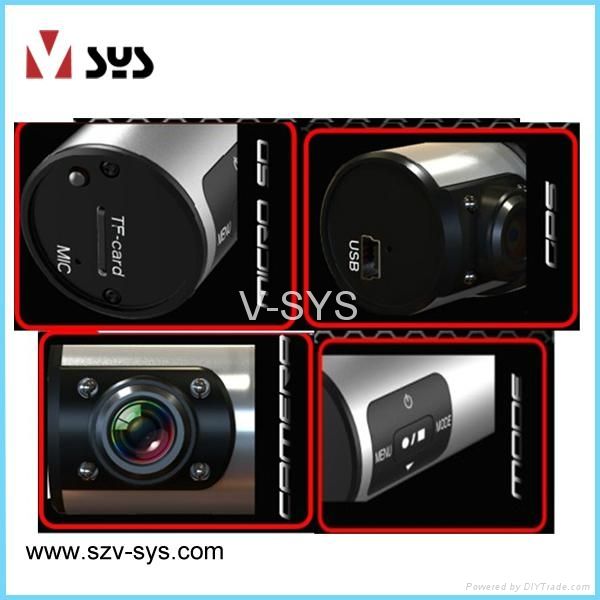 Big seller of factory direct supply Mini spy camera car DVR with AV Cable 2