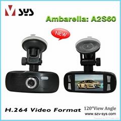 FHD1080P Ambarella Car Black box in 2.7 inch LCD