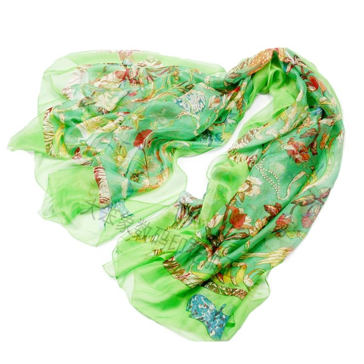 雪纺围巾数码印花 4