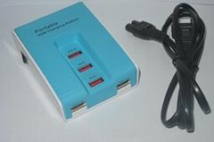 5口 USB接線板插座