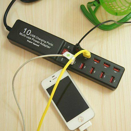 10口 USB插座充电器 2