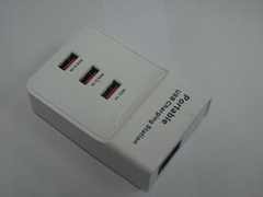 3口 USB插座充电器