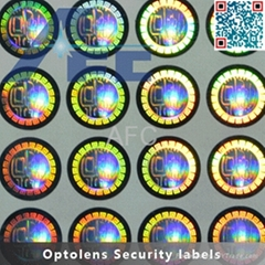 Full Color Transparent hologram sticker