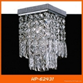 Hot sell square crystal ceiling light