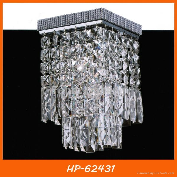 Hot sell square crystal ceiling light 1