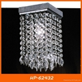 Hot sell square crystal ceiling light 2