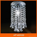 Hot sell square crystal ceiling light 3