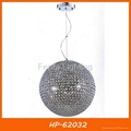 Crystal ball pendant lamp lighting