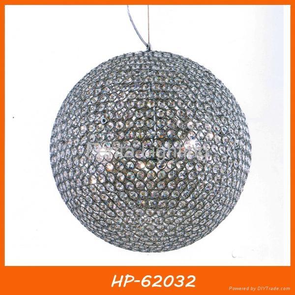 Crystal ball pendant lamp lighting 2