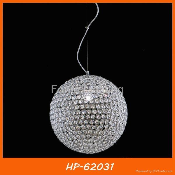 Crystal ball pendant lamp lighting 3