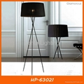 Modern tripod floor light fabric lamp